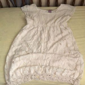 White lace baby doll style dress